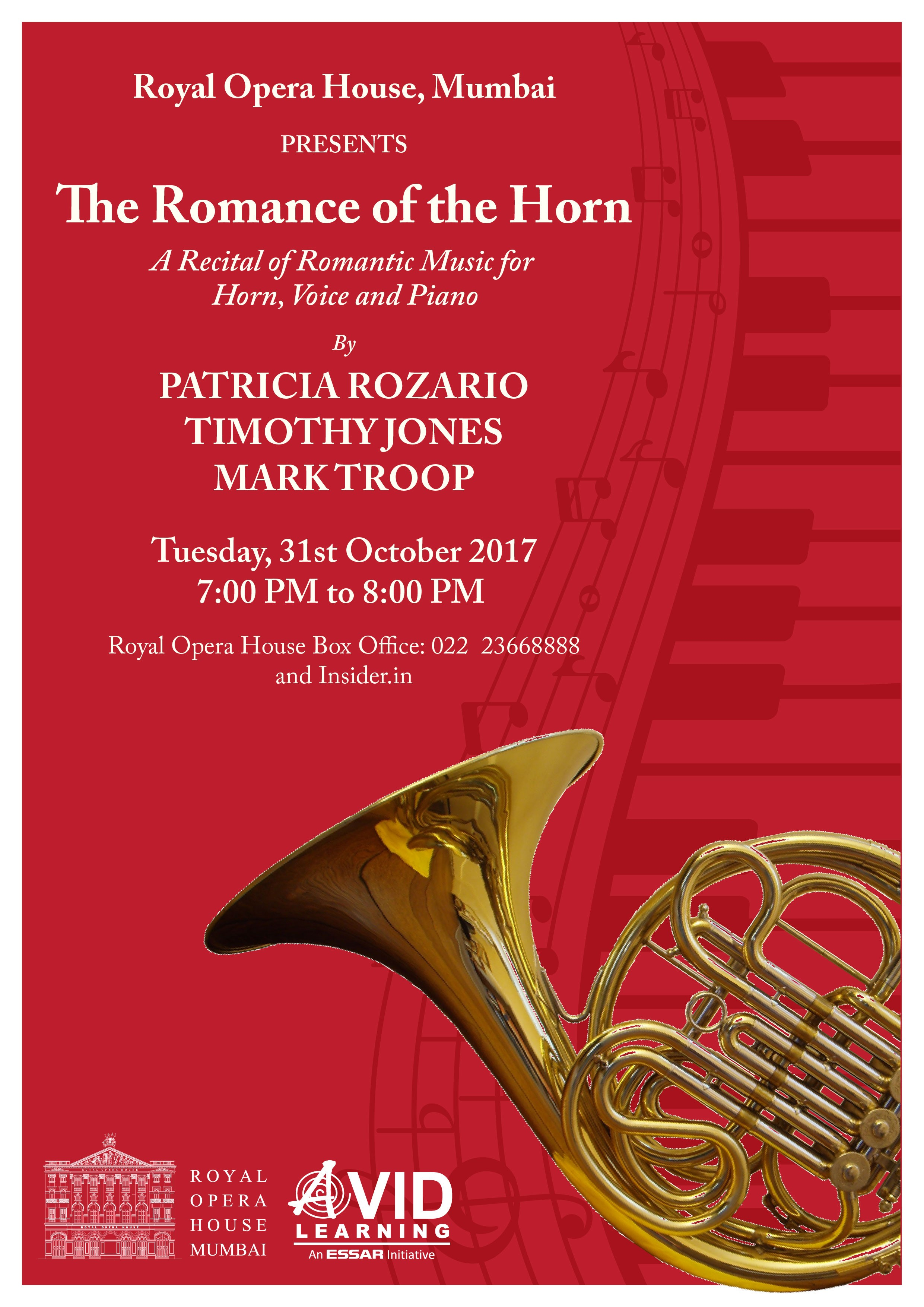 E-146 - The Romance of the Horn: a Recital of Romantic Music for Horn, Voice and Piano